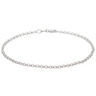 9ct White Gold Round Belcher Bracelet - Walker & Hall