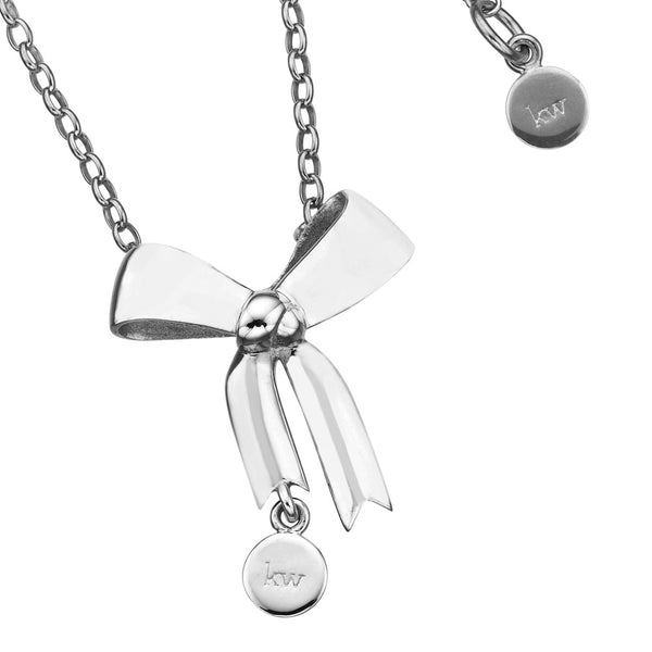 Karen Walker Bow Necklace - Sterling Silver (45Cm)