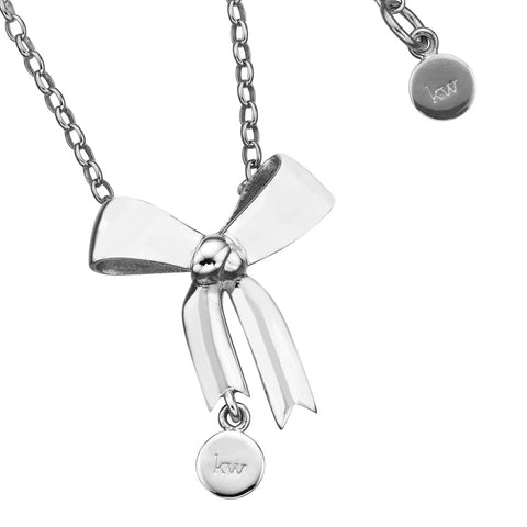Karen Walker Bow Necklace - Sterling Silver - Walker & Hall