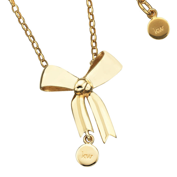 Karen Walker Bow Necklace - 9ct Yellow Gold (45Cm)