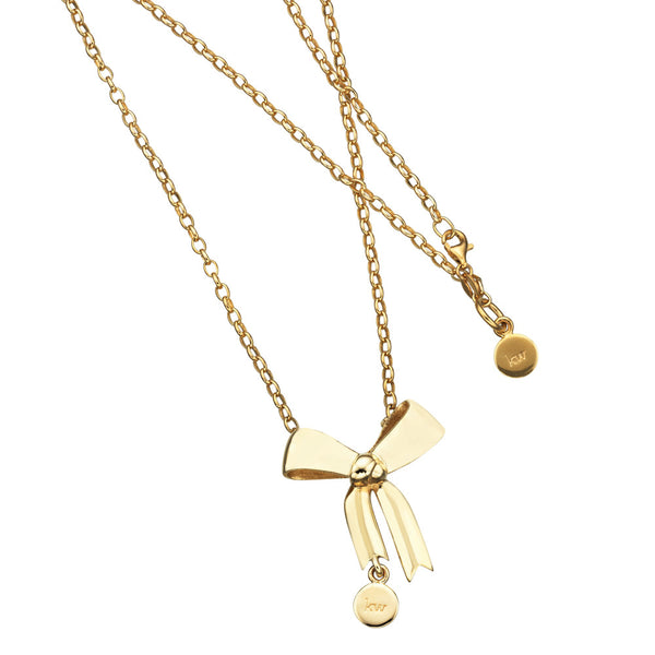 Karen Walker Bow Necklace - 9ct Yellow Gold - Walker & Hall