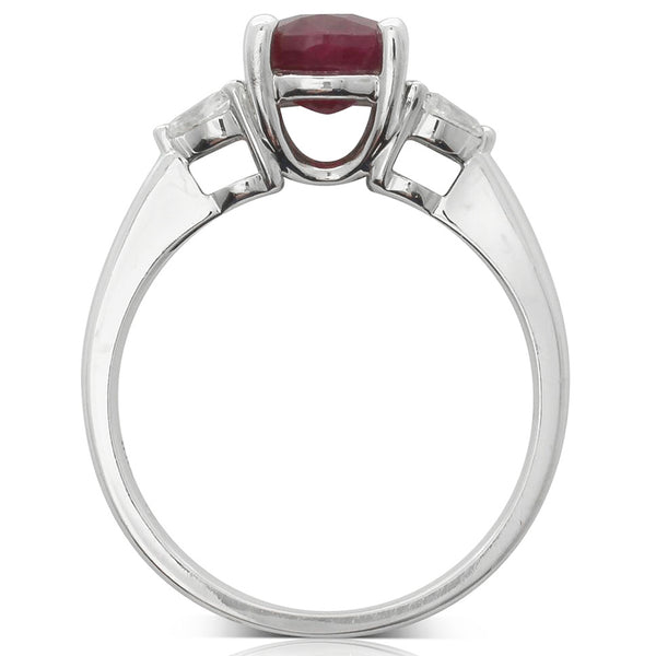 18ct White Gold Ruby And Diamond Ring - Walker & Hall