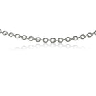 9ct White Gold Cable Chain - Walker & Hall