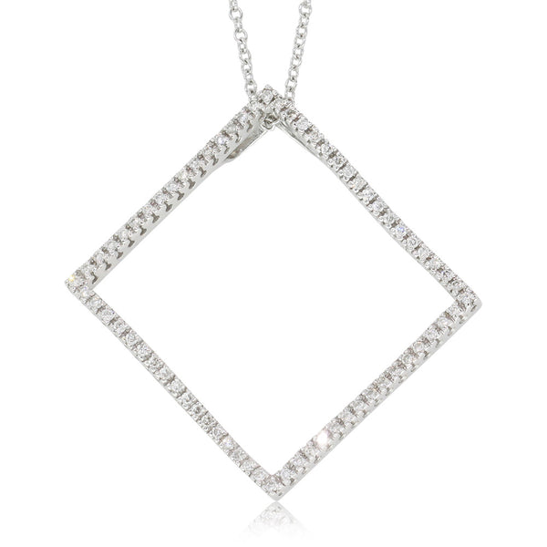 18ct White Gold .45ct Diamond Pendant - Walker & Hall
