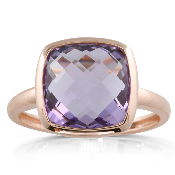 9ct Rose Gold Amethyst Ring - Walker & Hall