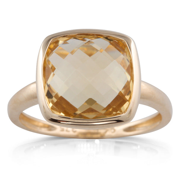 9ct Yellow Gold Citrine Ring - Walker & Hall