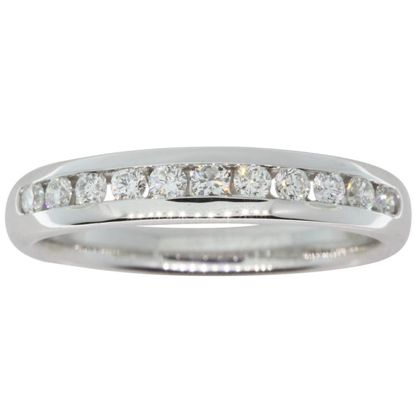 18ct White Gold .33ct Diamond Band - Walker & Hall