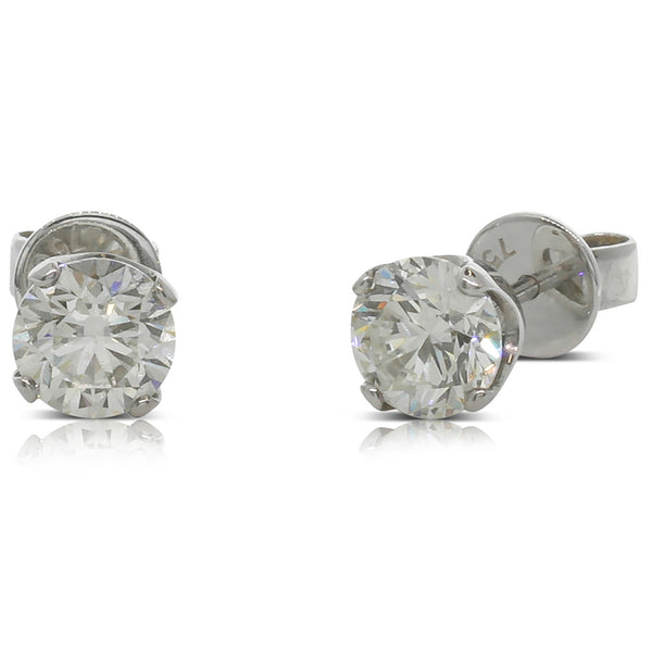 18ct White Gold 2.00ct Diamond Studs - Walker & Hall