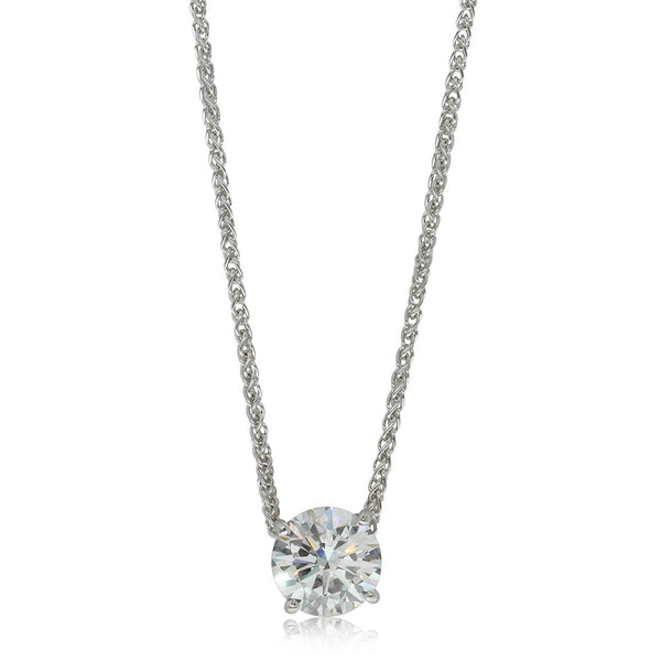 18ct White Gold 1.51ct Diamond Solitaire Pendant - Walker & Hall