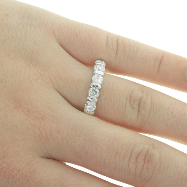 18ct White Gold 1.02ct Diamond Band - Walker & Hall