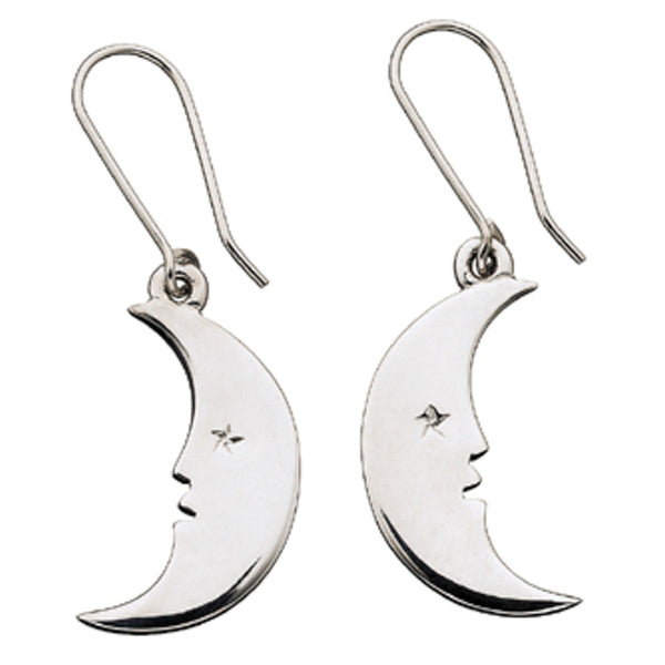 Karen Walker Moon Earrings - Sterling Silver - Walker & Hall