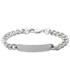 Sterling Silver Men's ID Bracelet - Walker & Hall