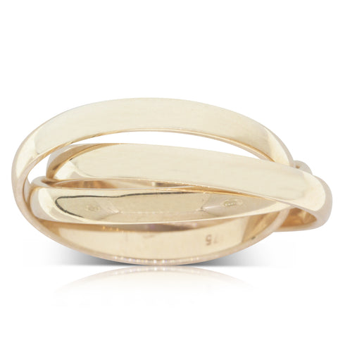 9ct Yellow Gold Russian Wedding Ring - Walker & Hall
