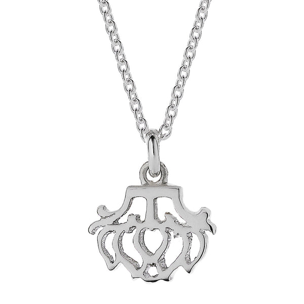 Meadowlark Peony Charm Necklace - Sterling Silver