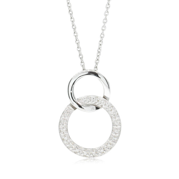 9ct White Gold Diamond Affinity Pendant - Walker & Hall