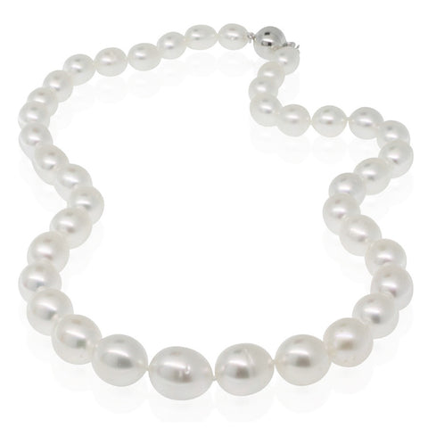 South Sea Pearl Necklace With 14ct White Gold Clasp - Walker & Hall