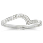 18ct White Gold .12ct Embrace Band - Walker & Hall
