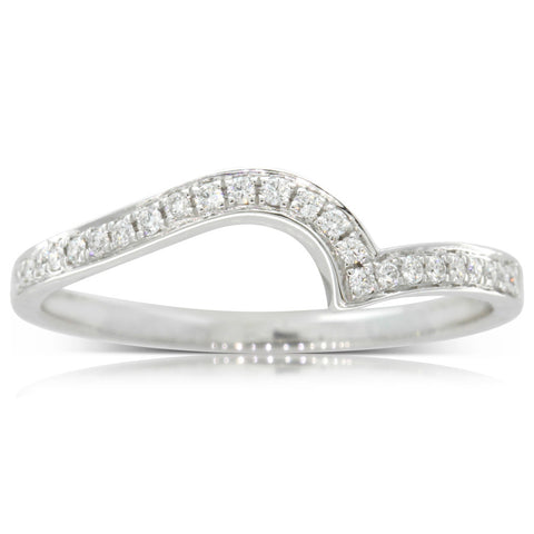 Platinum .12ct Embrace Band - Walker & Hall