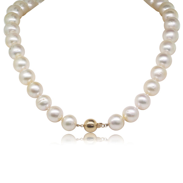 14ct Yellow Gold 15mm South Sea Pearl Strand - Walker & Hall
