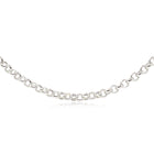 9ct White Gold Belcher Chain - Walker & Hall