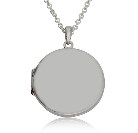 Sterling Silver Round Locket - Walker & Hall