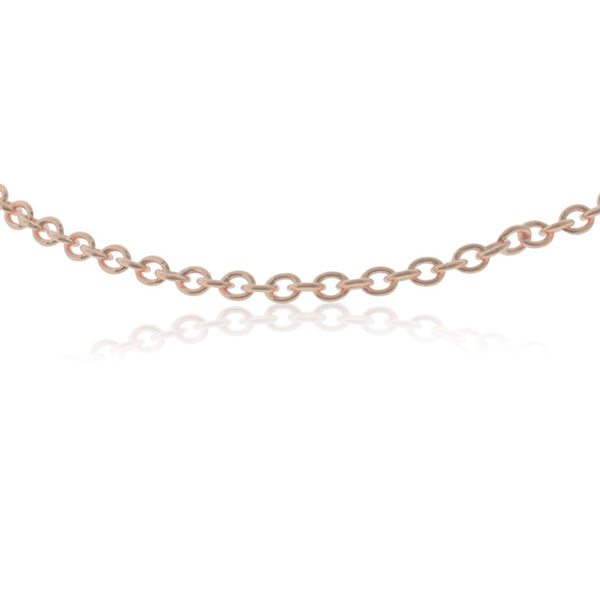 9ct Rose Gold Cable Chain - Walker & Hall