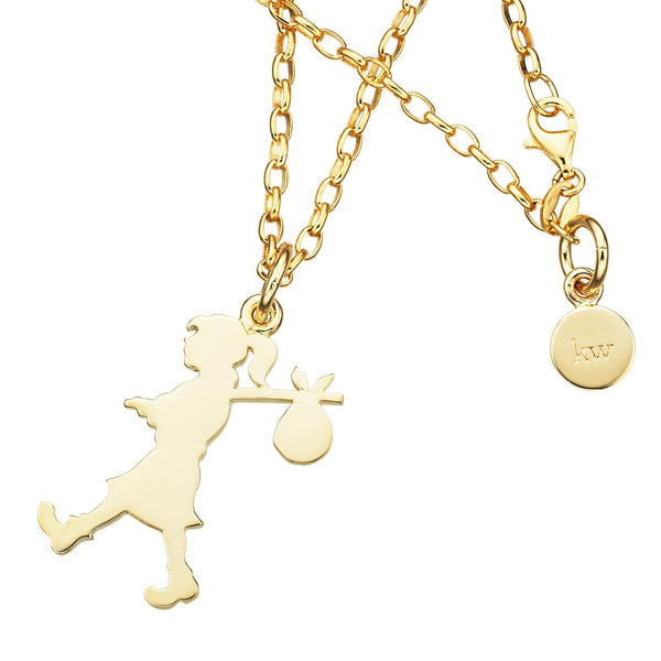 Karen Walker Large Runaway Girl Necklace - 9ct Yellow Gold - Walker & Hall