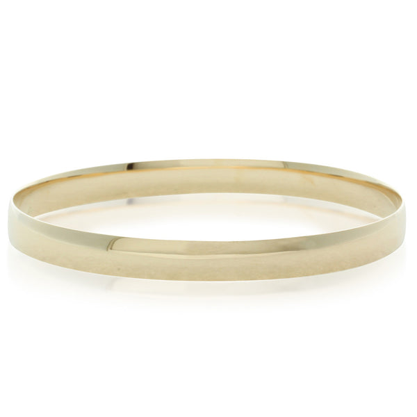 9ct Yellow Gold 6.3mm Bangle - Walker & Hall