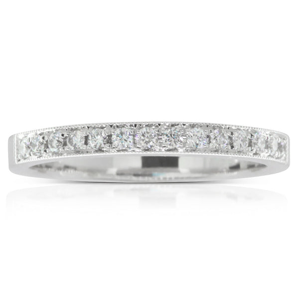 18ct White Gold .20ct Diamond Band