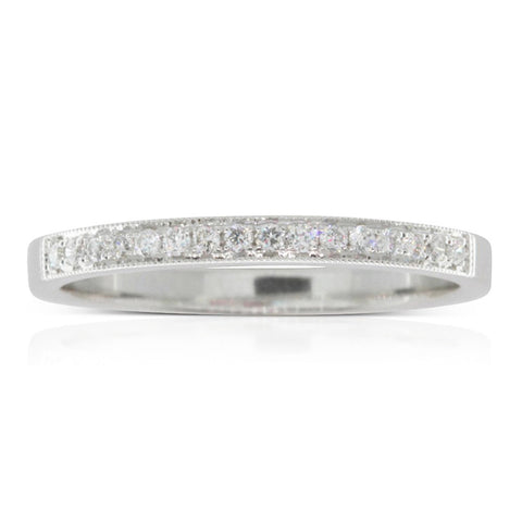Platinum .12ct Diamond Band - Walker & Hall