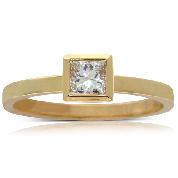 Karen Walker Yellow Gold Diamond Ring - Walker & Hall