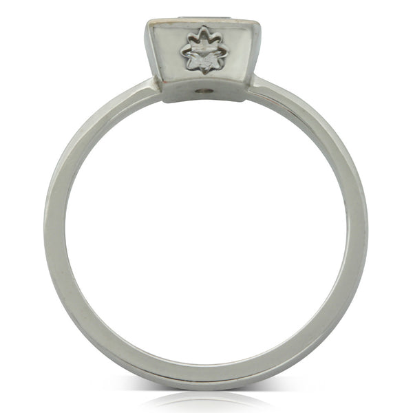 Karen Walker White Gold Princess Cut Diamond Ring - Walker & Hall