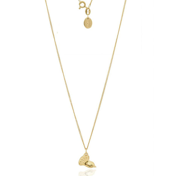 Boh Runga 9ct Yellow Gold Fantail Petite Pendant - Walker & Hall