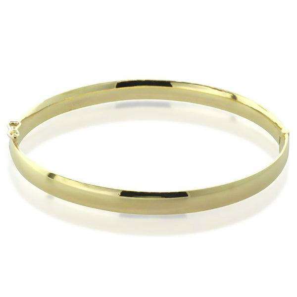9ct Yellow Gold Hinged Bangle - Walker & Hall
