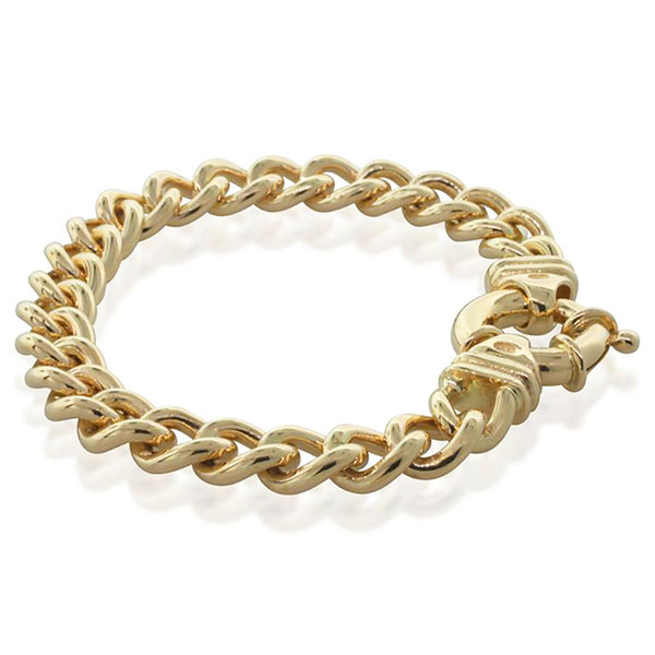9ct Yellow Gold Curb Link Bracelet - Walker & Hall