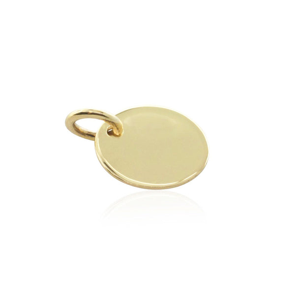 9ct Yellow Gold Disc Pendant - Walker & Hall
