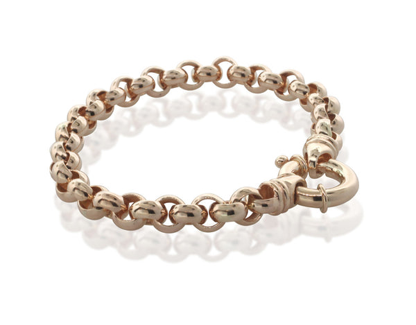 9ct Rose Gold Belcher Bracelet