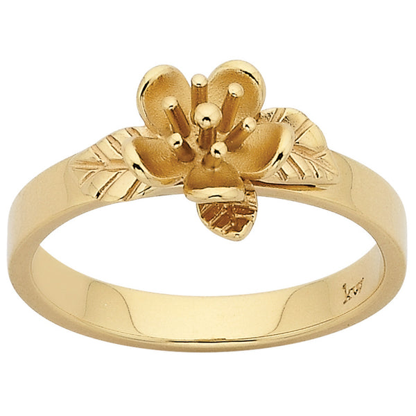 Karen Walker Single Flower Ring - 9ct Yellow Gold