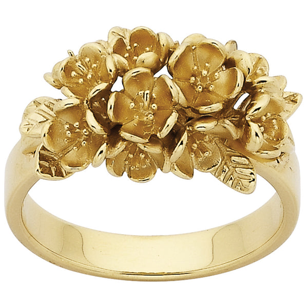 Karen Walker Flowers Ring - 9ct Yellow Gold - Walker & Hall