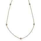 9ct Yellow Gold Diamond Necklace - Walker & Hall