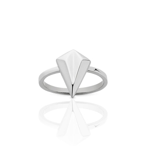 Meadowlark Faceted Stacker Ring - Sterling Silver - Walker & Hall