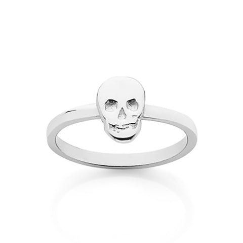 Meadowlark Skull Stacker Ring - Sterling Silver - Walker & Hall