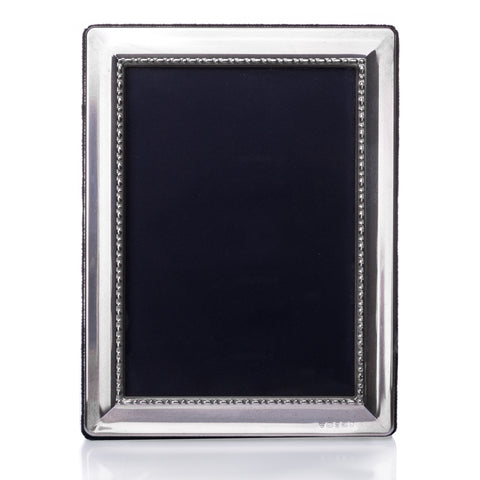 Sterling Silver Heavy Beaded Photo Frame - Walker & Hall