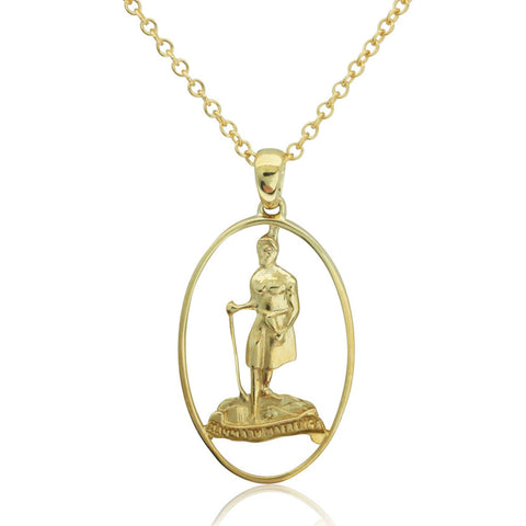 9ct Yellow Gold Nz St. Christopher Pendant - Walker & Hall
