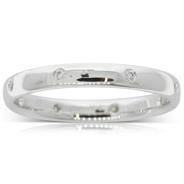 Platinum .08ct Diamond Lucky Band - Walker & Hall