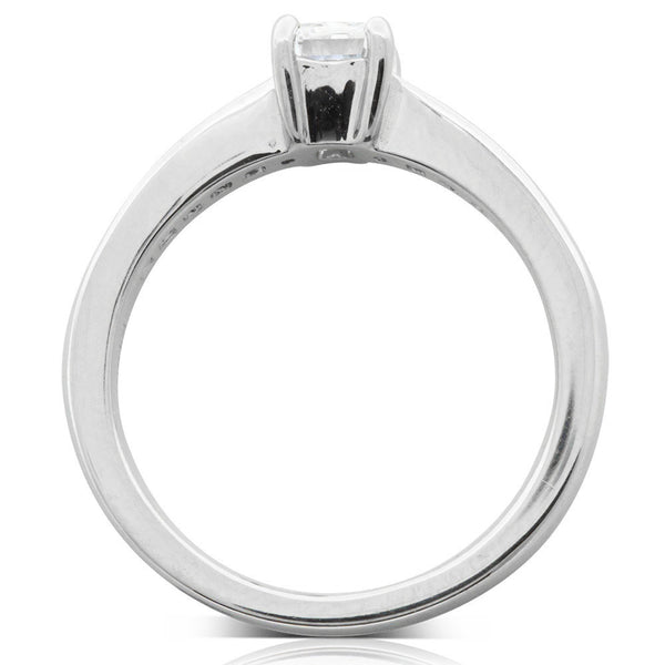 Platinum .62ct Radiant Cut Diamond Ring - Walker & Hall
