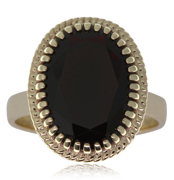 9ct Yellow Gold Garnet Exotic Ring