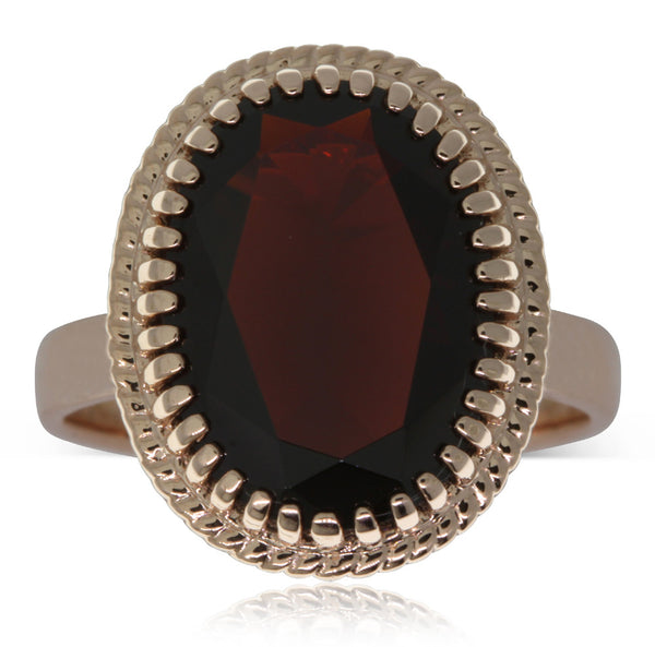 9ct Rose Gold Garnet Cocktail Ring - Walker & Hall