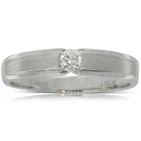18ct White Gold .08ct Diamond Couple Ring - Ladies - Walker & Hall
