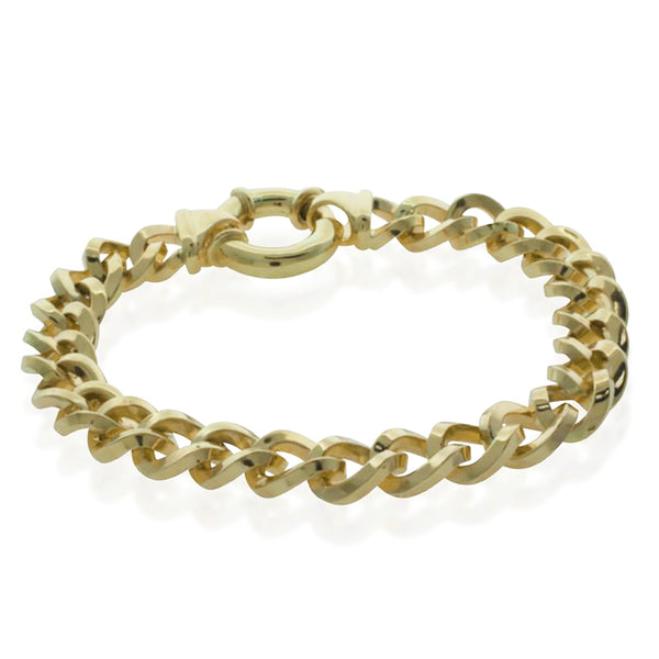 9ct Yellow Gold Curb Bracelet - Walker & Hall